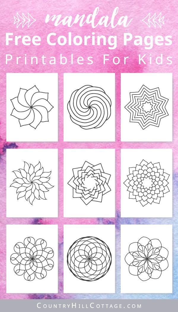Photo of Mandala Coloring Pages For Kids {10 Free Printable Worksheets}