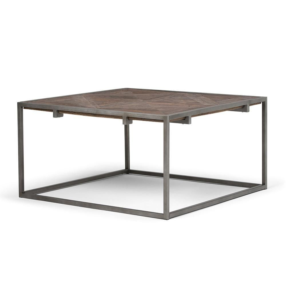 Avery Square Coffee Table Modern Industrial Coffee Table Coffee