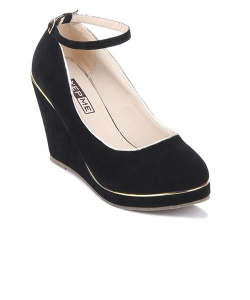 Yepme Black Wedges #shoes #cute #footwear #girls #fashion #style #