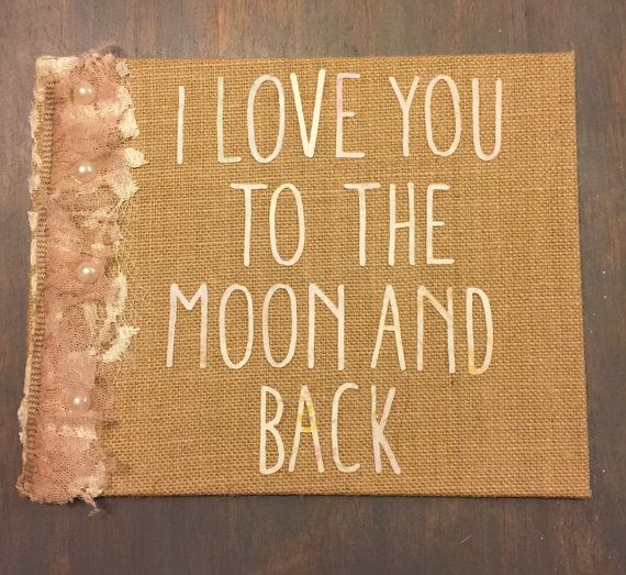 I love you to the moon and back canvas by TheDistrictDigs on Etsy