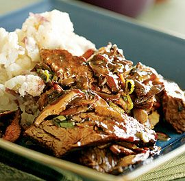 Beer-Braised Sirloin Tips with Mushroom Sauce - Recipe - FineCooking