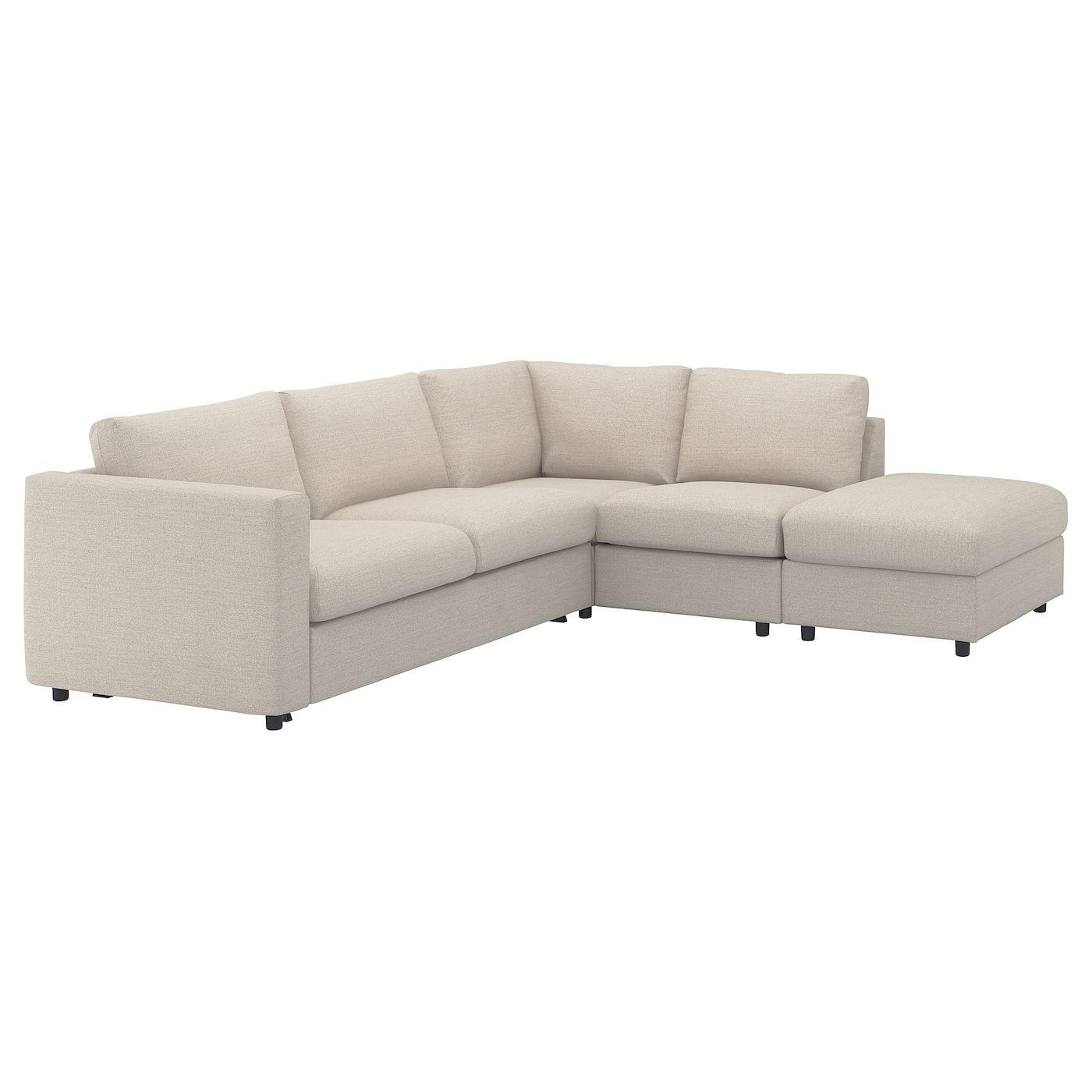 Vimle Corner Sleeper Sofa 4 Seat With Open End Gunnared Beige Sofa Back Cushions Sofa Bed Frame Ikea Sofa