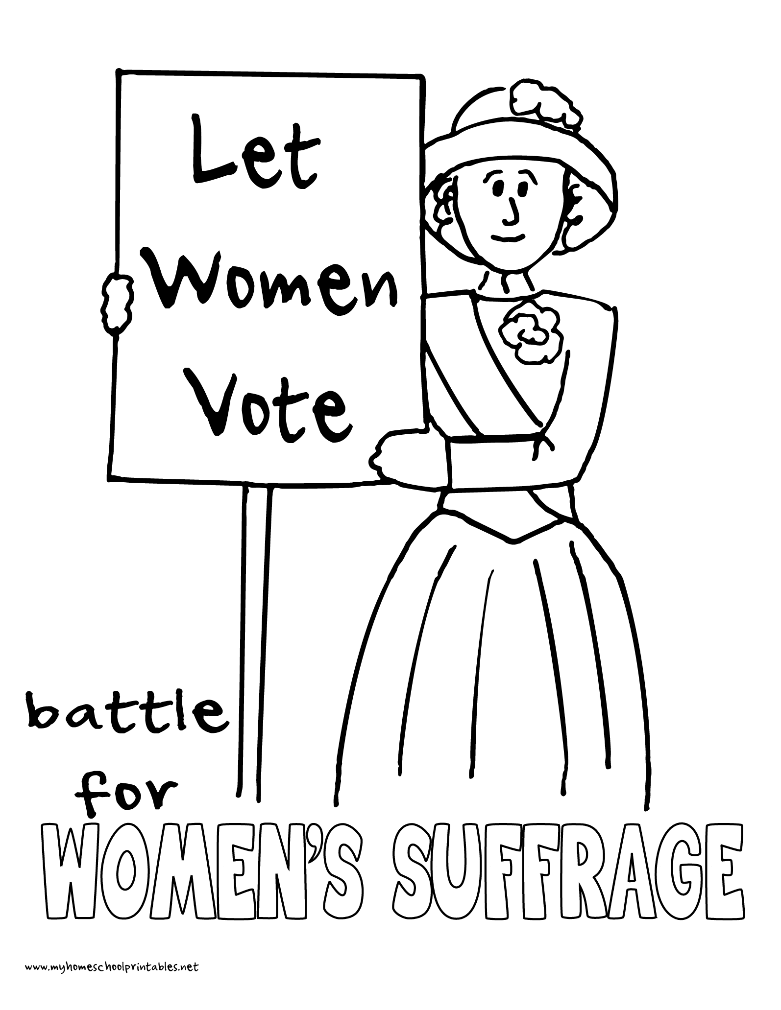 World History Coloring Pages Printables Women\'s Suffrage Protests ...