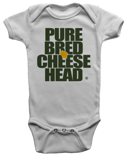 Purebred Cheesehead Onesie Cheeseheads And Wisconsin