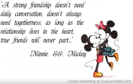 Friendship Quote | Mickey mouse quotes, Disney friendship ...