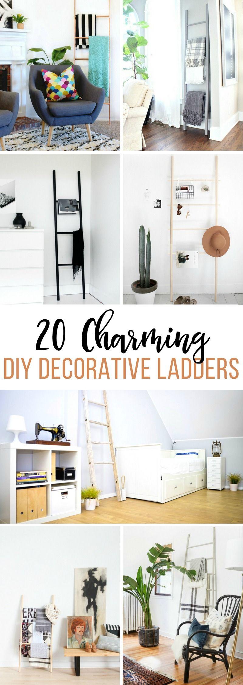 charming diy decorative ladders fixerupper modernfarmhouse