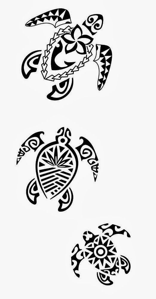Printable Turtle Stencil Free Turtles Tribal Tattoo Stencil 4
