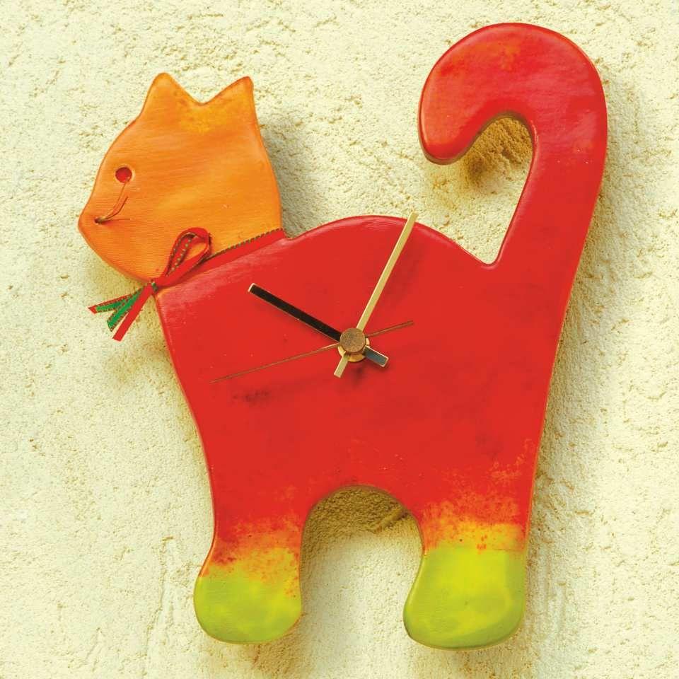 """Keramik #Wanduhr """"Katze"""" mit Präzisionsuhrwerk - Die als Katze ..."""