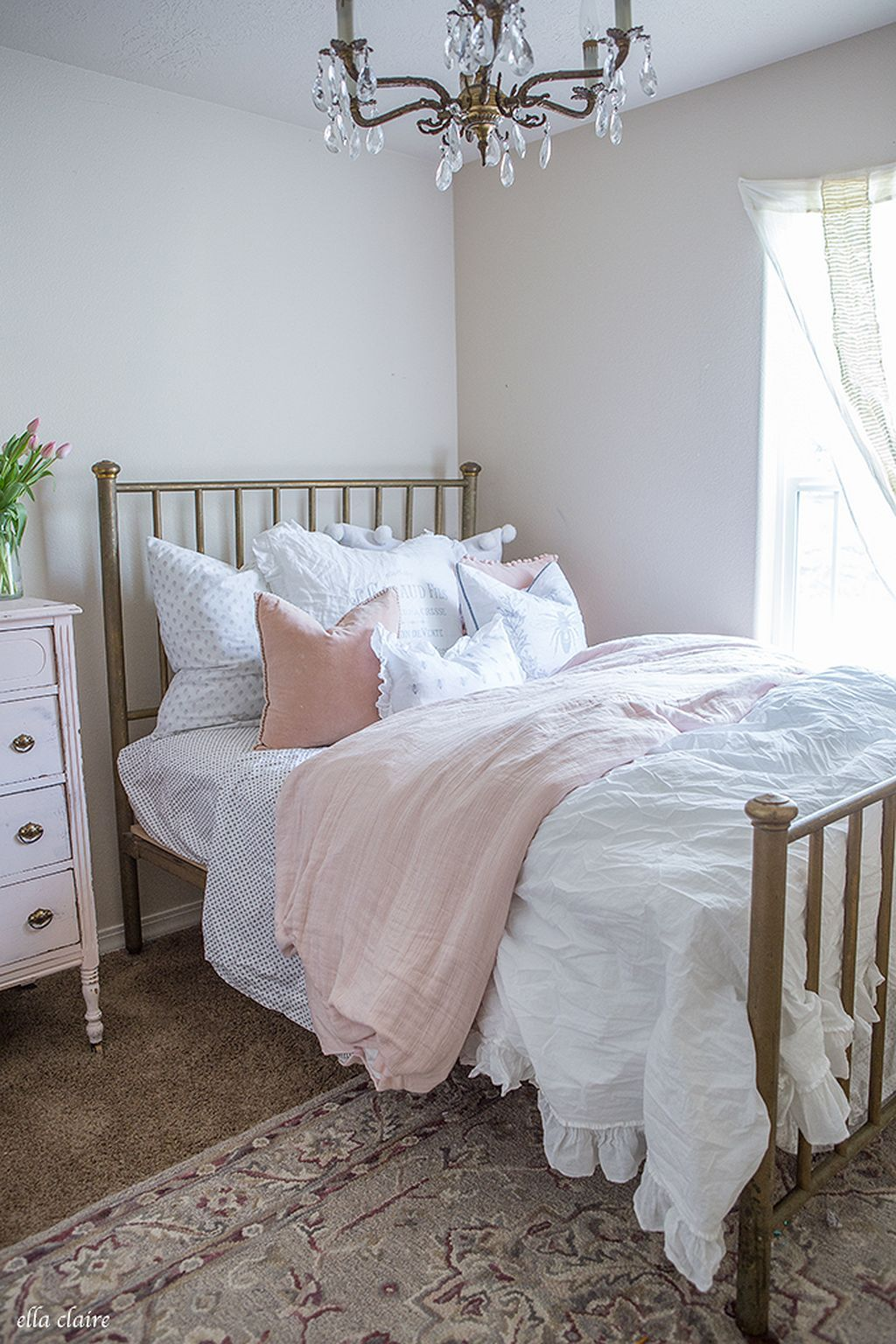 Best awesome pront pink and gold bedroom ideas for you