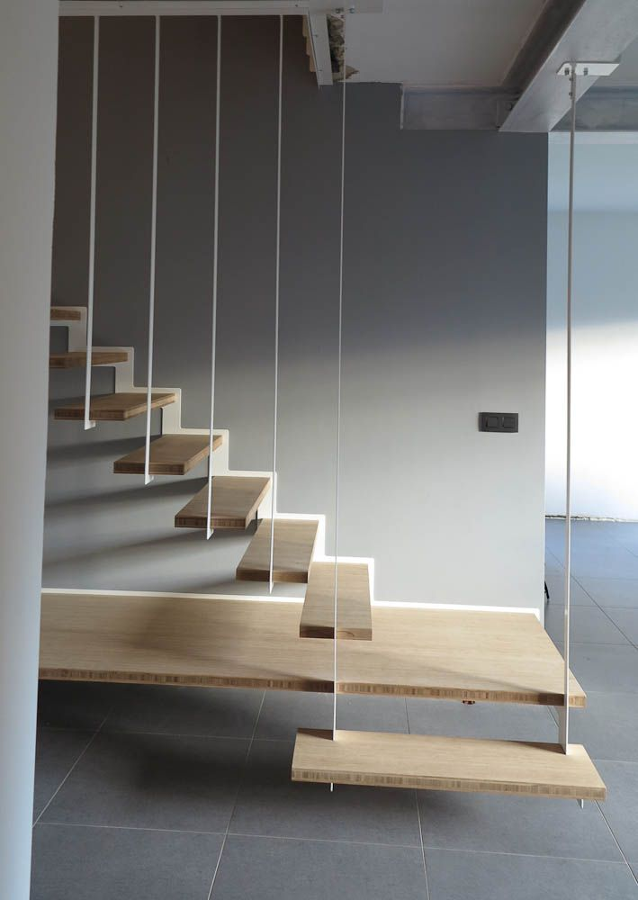 Suspended Staircase. Up Stairs By Jo A