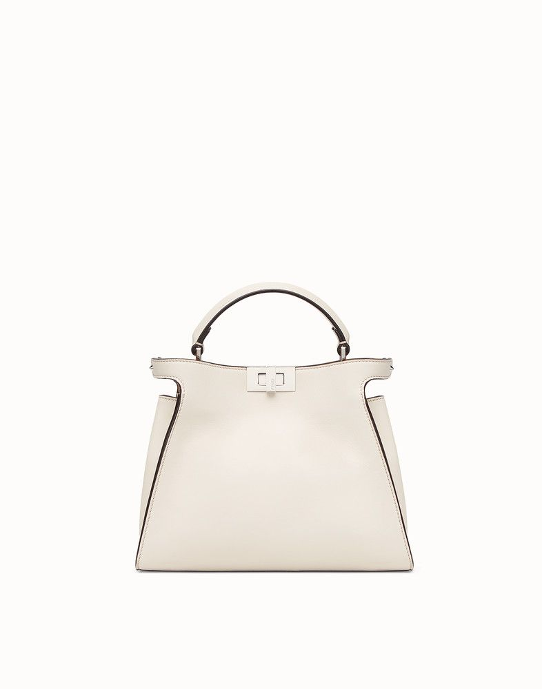 fad826c316fc FENDI PEEKABOO ESSENTIALLY - White leather bag - view 1 detail ...