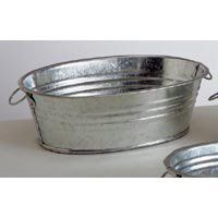 These Small Galvanized Tubs Would Be Perfect For Fresh Flowers Or