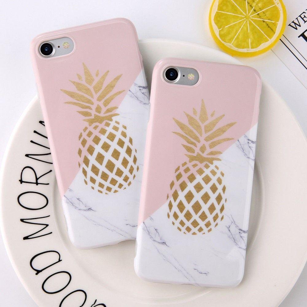 coque iphone 8 plus marbre ananas