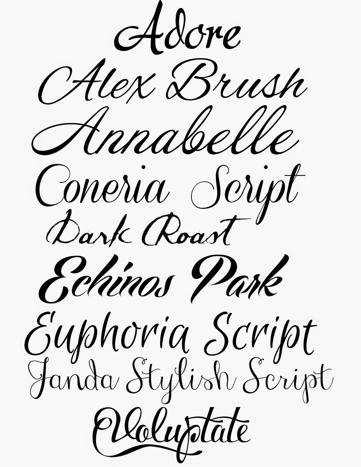 20 Free Cursive Fonts | Beautiful, Cursive fonts and The sky