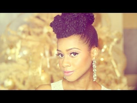 I will definitely be trying this very soon!  ▶ Natural Hair Updo Hairstyle New Year's Eve Tutorial - YouTube