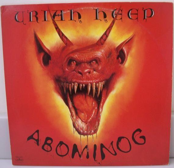 Uriah Heep 1982 Lp Abominog Classic Rock Music Record Album Etsy In 2020 Rock Album Covers Album Cover Art Heep