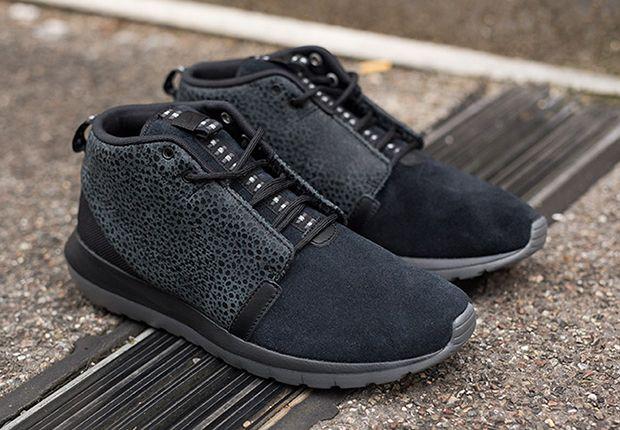big sale 18692 7e64e Nike Roshe Run NM Sneakerboot Black Safari