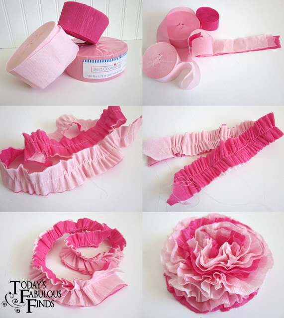 Tutorial Crepe Paper Flower Love The Look Of These So Easy And