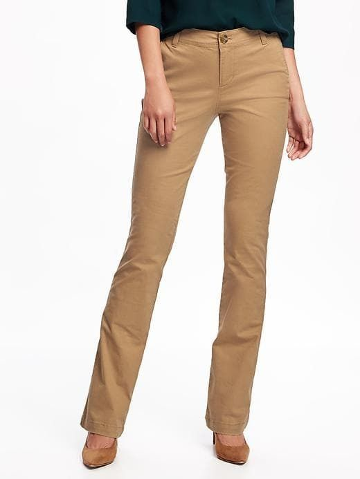 7cb1f79fd I need long dress pants for work! Old Navy Mid-Rise Boot-Cut Khakis for  Women