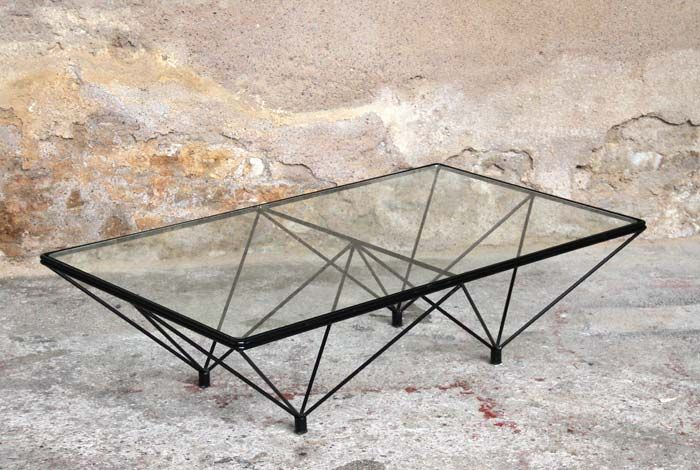 Table basse vintage verre et m tal s jour pinterest for Table basse verre metal