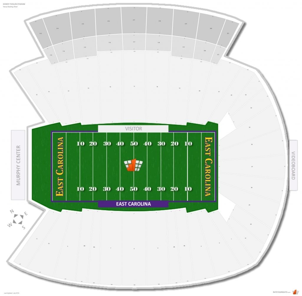 The Most Amazing As Well As Gorgeous Dowdy Ficklen Stadium Seating Chart Di 2020