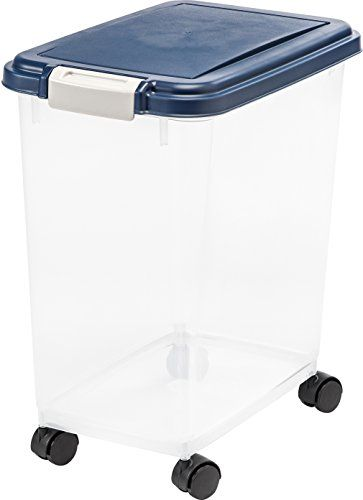 IRIS Airtight Pet Food Storage Container - IRIS Airtight Food Storage Container keeps moisture humidity and pests out. Perfect for dry dog food ...  sc 1 st  Pinterest & Dog Food Storage - IRIS Airtight Food Storage Container *** Details ...