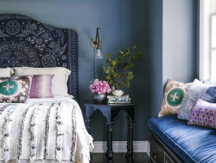1001 id es pour am nager ses espaces en couleur bleu gris Chambre style hindou