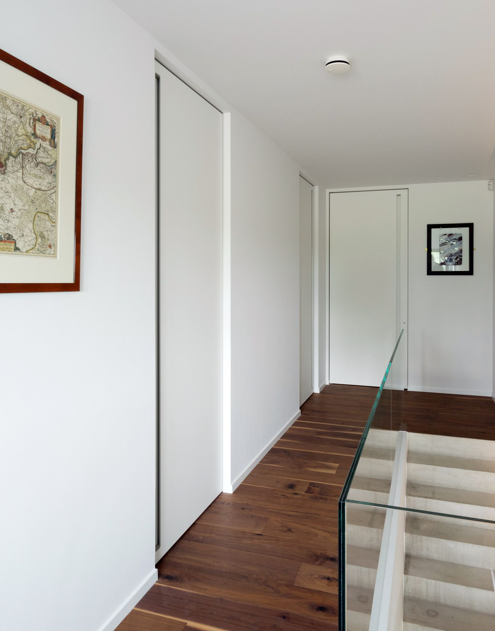 White Frameless Interior Doors With An Invisible Door Frame And