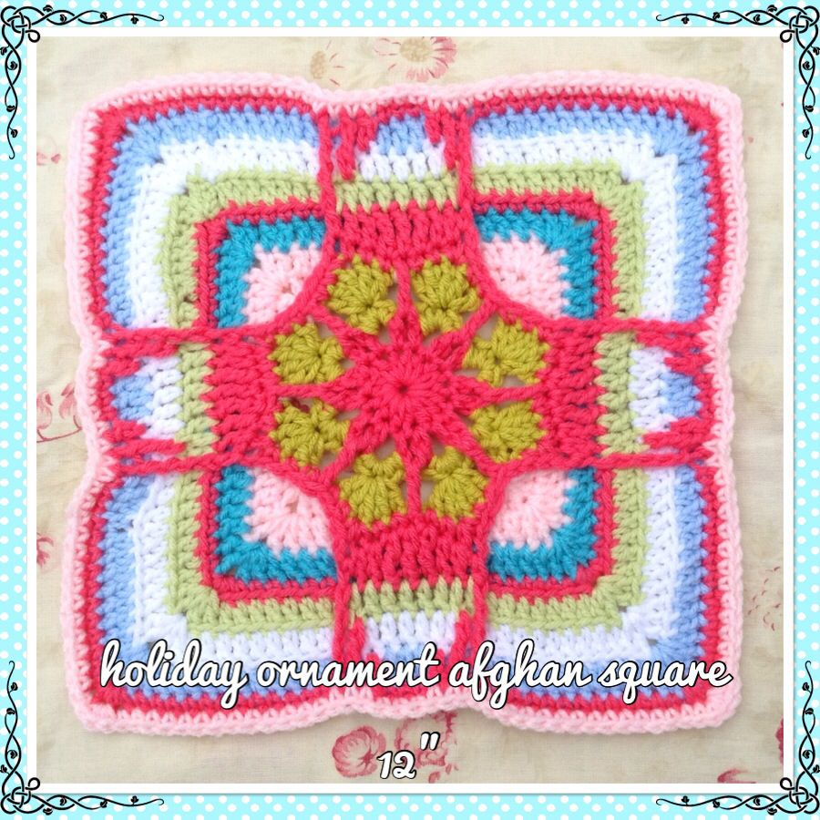 Holiday ornament afghan square design by julie yeager free pattern ...