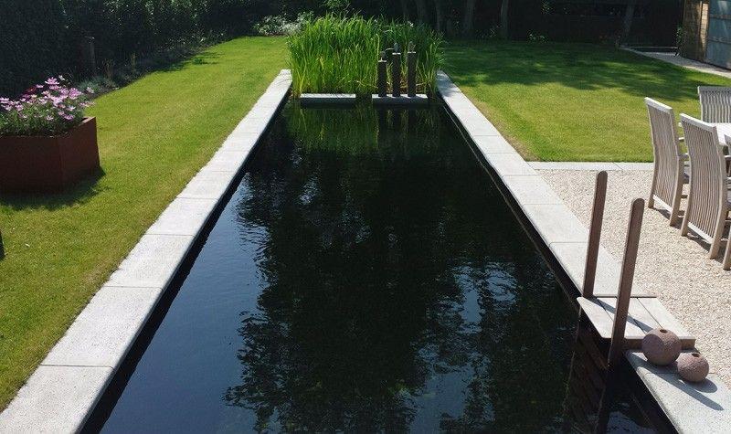 Zwemvijver met houten opbouwtrap | Prijs Zwembad