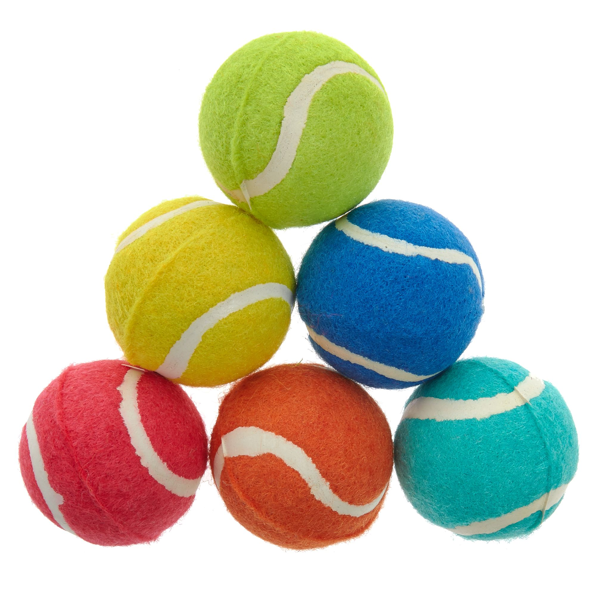 Grreat Choice Tennis Ball Dog Toys 6 Pack Size 2 In Great