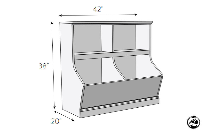 Photo of Bookcase with Toy Storage » Rogue Engineer