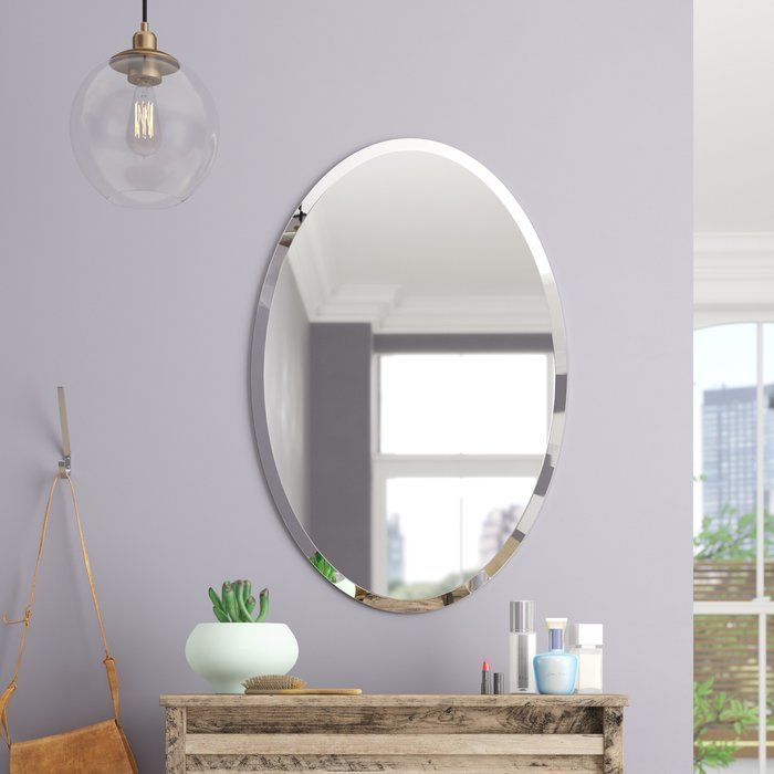 Oval Frameless Bathroom Mirror