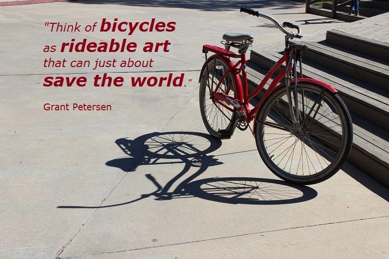 Artful Display Of A Bicycle Bicycle Cycle Ride Vintage Bicycles