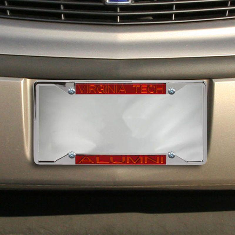 Virginia Tech Hokies Alumni Chrome License Plate Frame | Virginia ...
