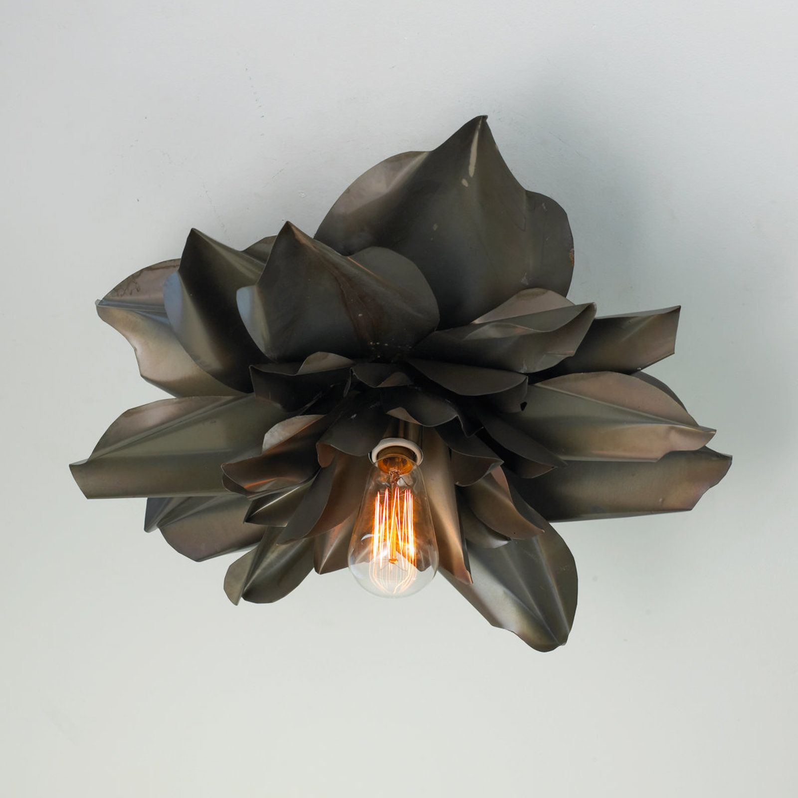 Vintage Magnolia Blossom Semi Flush Ceiling Light - Medium | Häuschen
