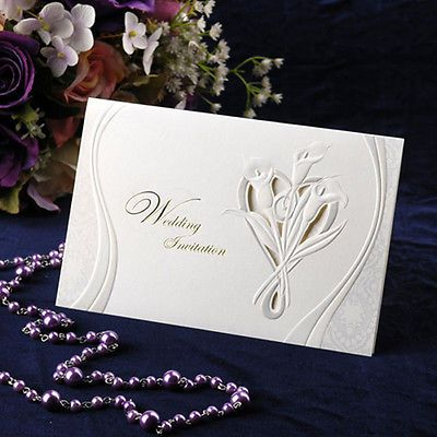 200Sets Kits Flower Wedding Invitations 200 Cards + Envelopes + Seals / C5089[required]