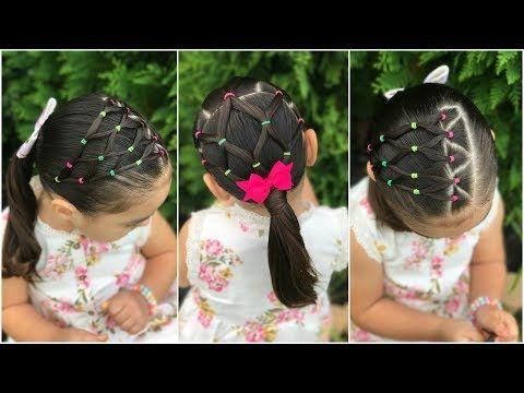 2 peinados fáciles y rápidos de hacer con ligas para la escuelaEasy