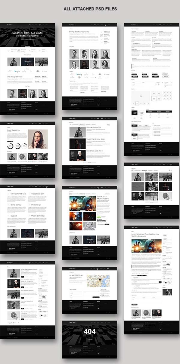 Psd Template Of The Day 017 Black Html5 Css3 Design Blog Fashion Web Design Web Layout Design Website Design Layout
