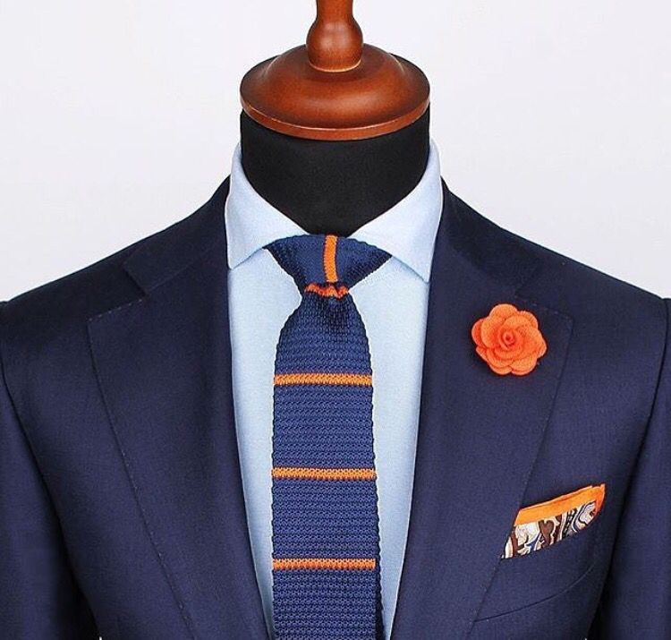 Spice up your navy suit!