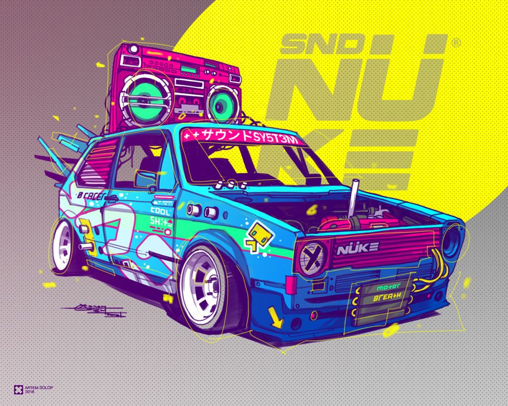Raw Power 2 on Behance Art cars, Car artwork, Vw art