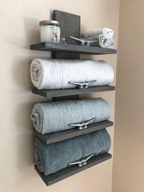 Nautical Towel Rack  Nautical Decor  Bathroom Decor  Home | Etsy