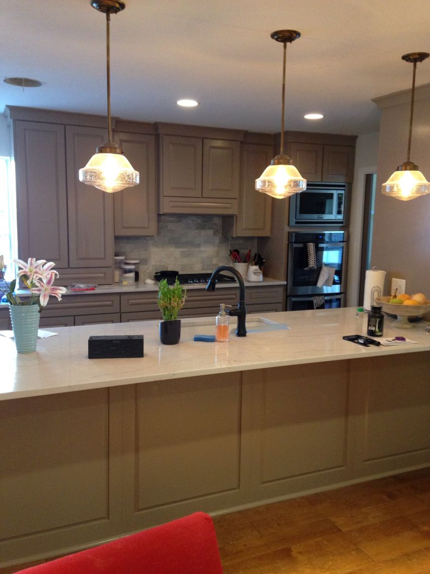 Kitchen Remodel Gray Cabinets grey and white kitchen remodel - cambria ella countertops, grey