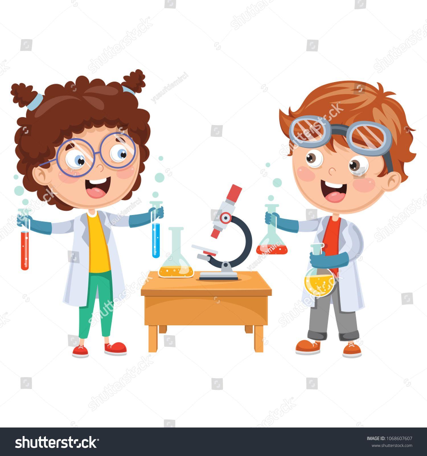Vector Illustrations Of Kids Having Chemistry Lesson Illustrations Vector Kids Lesson Chemistry Lessons Chemistry Drawing For Kids [ 1600 x 1500 Pixel ]