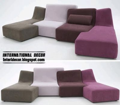 Puzzle sofas and couches furniture sets creative designs