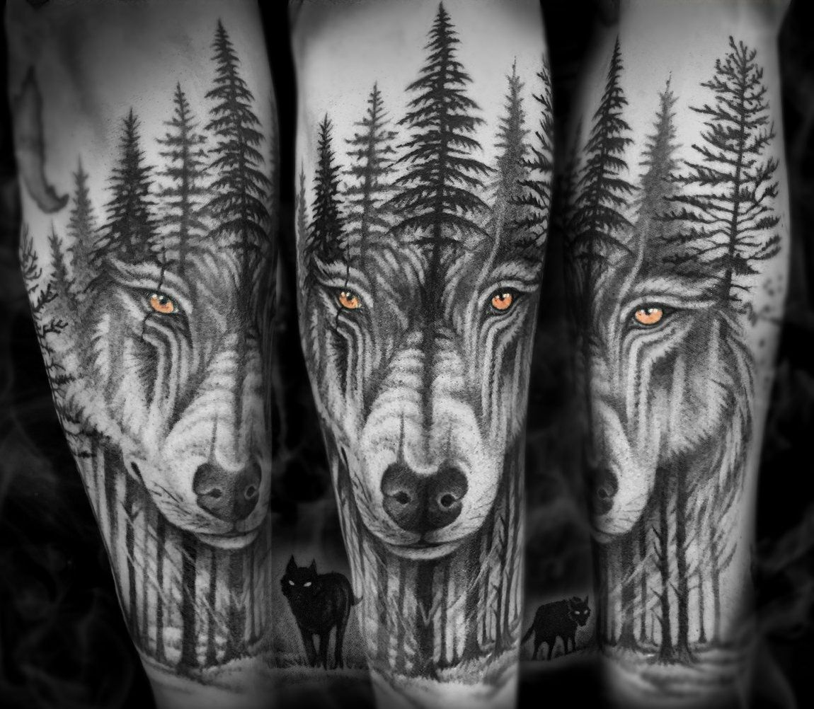 Wolf Wolftattoo Woods Tattoo Tattooart Tattoodesign