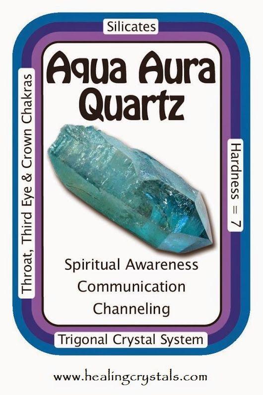 """Crystal Card of the Day: Aqua Aura Quartz, """"My spirit is ..."""