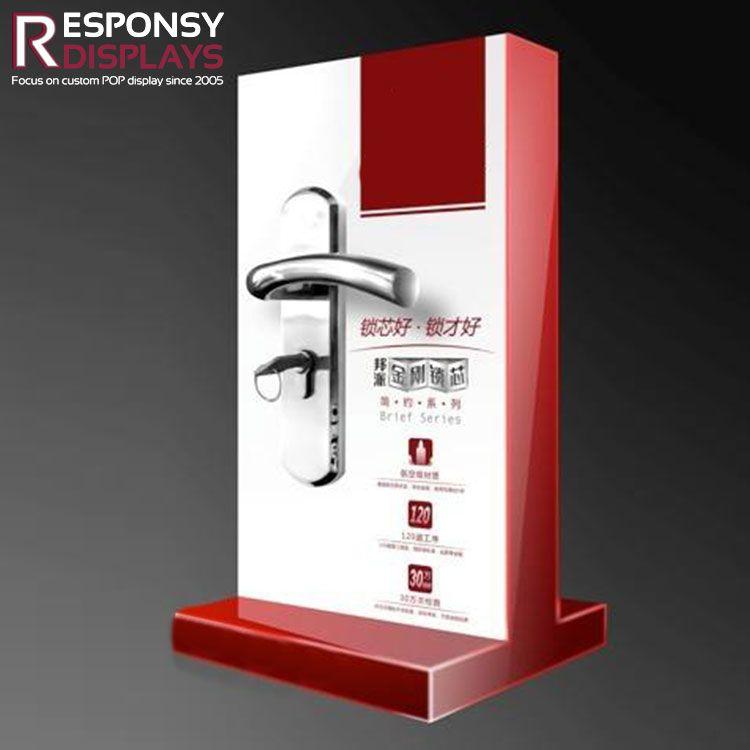 Cheap Acrylic Counter Top Door Lock Display Rack Pop Display