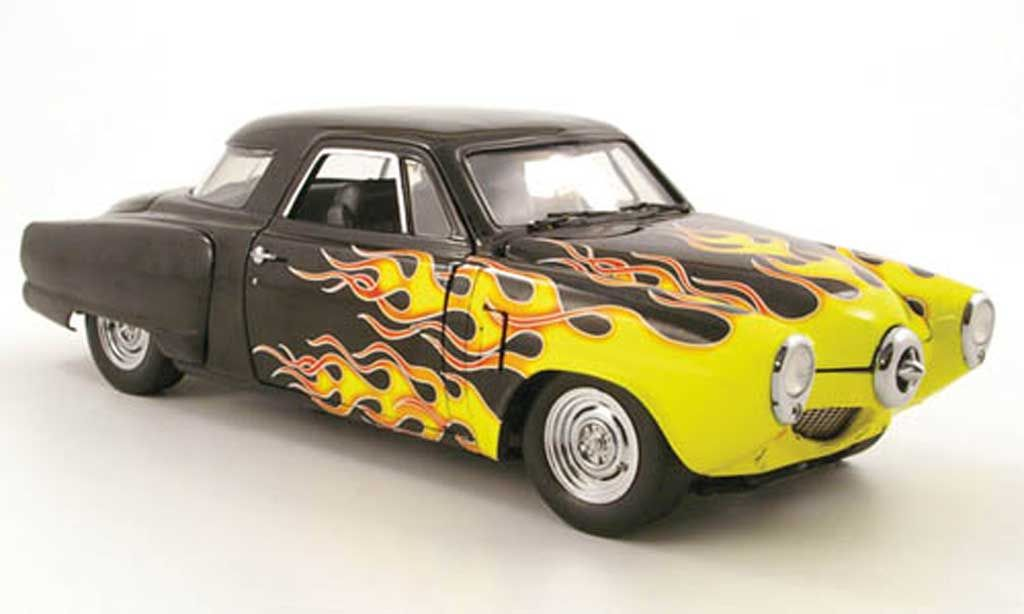 Custom+Diecast+Cars | Studebaker Champion custom black mit flammendekor 1950 Highway 61 1/18