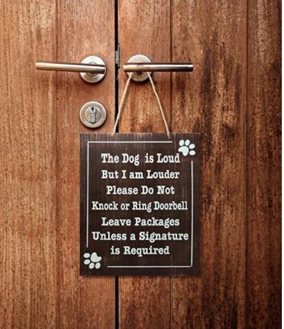 Jennygems The Dog Is Loud Front Door Signs Please Do Not Knock Or Ring Doorbell Leave Packages In 2020 Funny No Soliciting Sign No Soliciting Signs Ring Doorbell